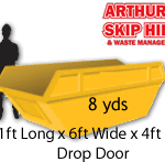 8 yard Local Skip Hire Drop Door*