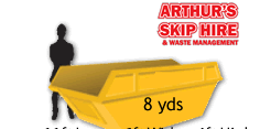 8 yard Local Skip Hire Drop Door* 1